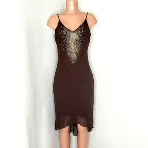Pia Sparkle Party Dress Jersey Gold Silver Sequins